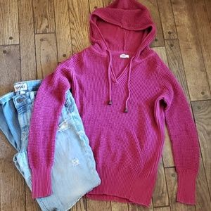 Sonoma mulberry knit hooded sweater